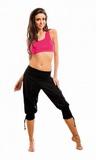 Dámské fitness nohavice gWinner Fantasia černé