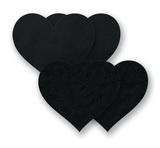 Ozdoby na bradavky - černé srdíčka