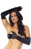 Dlouhé černé rukavice